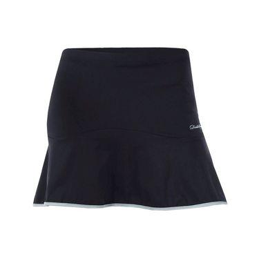 Denise Cronwall Vivid Dark Solid Skirt - Black