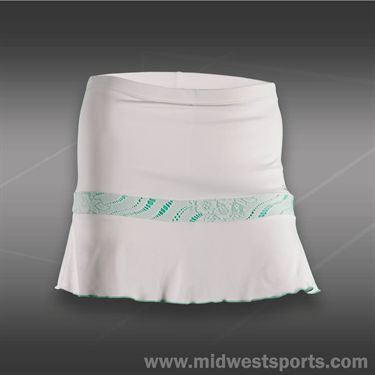 Denise Cronwall Calypso Flounce Skirt-White