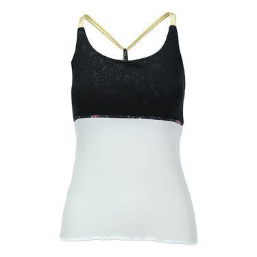 Denise Cronwall Villia Spaghetti Strap Tank- White/Black