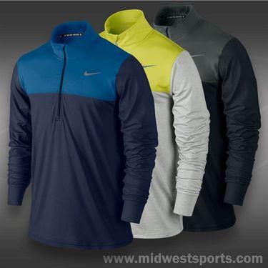 Nike 1/2 Zip Long Sleeve Top- Grey Heather