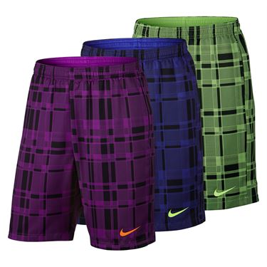 Nike Dry Court 9 Inch Plaid Short