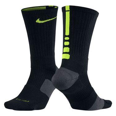 Nike Dri Fit Elite Crew Sock - Black/Volt