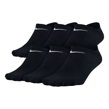 Nike Lightweight No Show 6-Pack Sock - Black/White