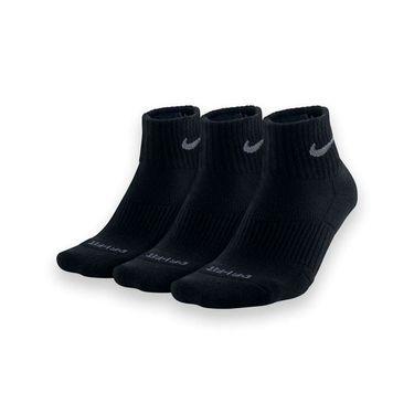 Nike Dri Fit Half Cushion Quarter Sock - Black/Flint Grey