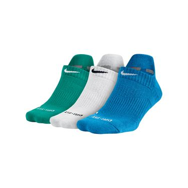 Nike Cushioned No Show 3 Pack Socks - Multi Color