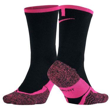 Nike Elite Tennis Crew Sock - Black/Hyper Pink