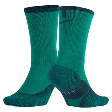 Nike Elite Tennis Crew Sock - Rio Teal/Midnight Turquoise
