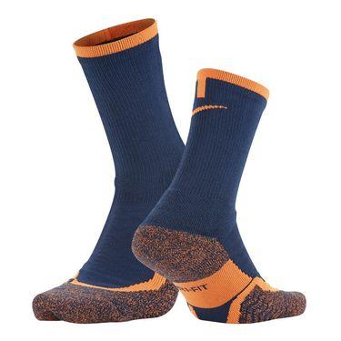 Nike Elite Tennis Crew Sock - Coastal Blue/Bright Citrus