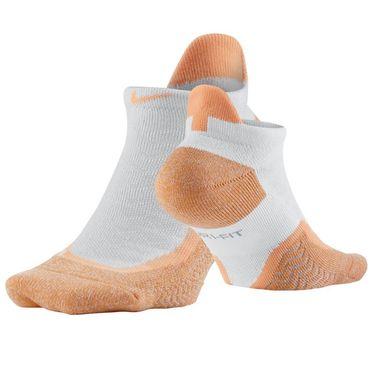 Nike Elite Tennis Cushioned No Show Sock - White/Total Crimson