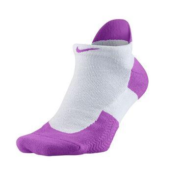 Nike Elite Tennis Cushioned No Show Sock - White/Hyper Violet