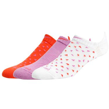 Nike Dri Fit Graphic No Show 3 Pack Socks - Pink/Multi