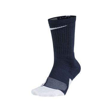 Nike Elite 1.5 Crew Sock Unisex - Midnight Navy/White