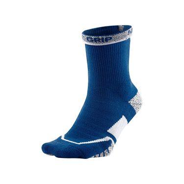 Nike Grip Elite Crew Tennis Sock - Blue Jay/White