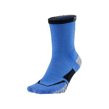 Nike Grip Elite Crew Tennis Sock - Medium Blue