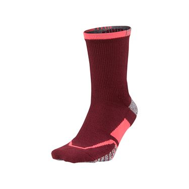 Nike Grip Elite Crew Tennis Sock - Team Red/Hot Punch