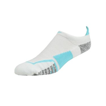 Nike Grip Elite No Show Tennis Sock - White/Polarized Blue