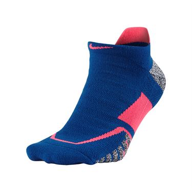 Nike Grip Elite No Show Tennis Sock - Blue Jay/Hot Punch