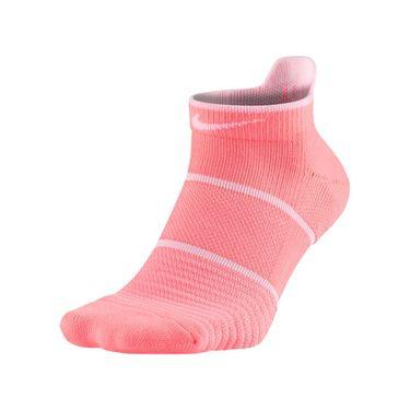 Nike Court Essentials No Show Tennis Sock - Lava Glow/Black