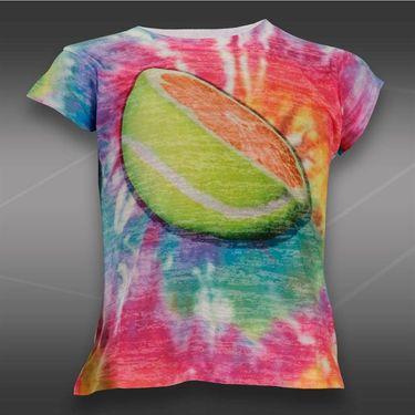 Lucky in Love Girls Love Pink Tie Dye Orange T-Shirt-Multi