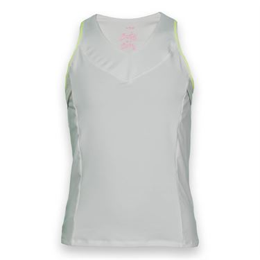 Lucky in Love Girls Core Tank- White