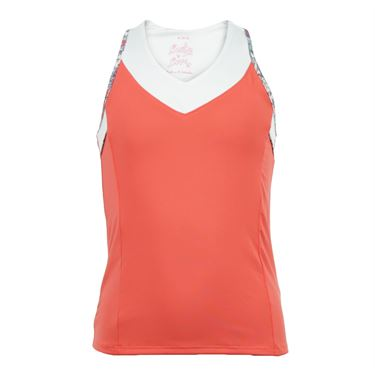 Lucky in Love Girls Pretty Perfect V Neck Racerback Tank - Flame