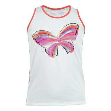 Lucky in Love Girls Pretty Perfect Butterfly Tank - Flame