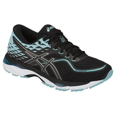 Asics Gel Cumulus 19 Womens Running Shoe - Black/Blue/White