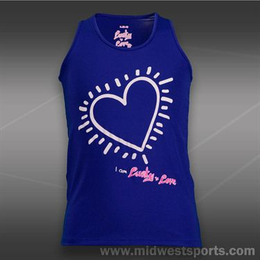 Lucky in Love Girls Tank-Royal Purple