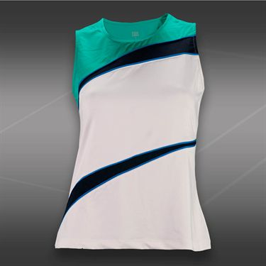 Tail Blue Court Classic Tank-White/Sea Glass/Navy
