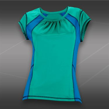 Tail Blue Court Short Sleeve Top-Sea Glass Green