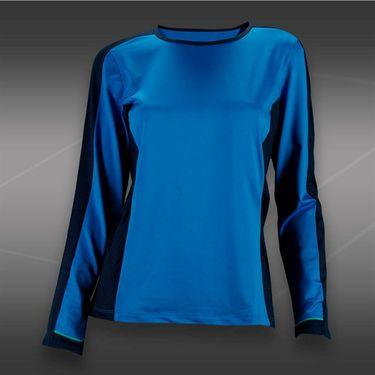 Tail Blue Court Long Sleeve Top-Ocean Blue