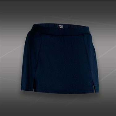 Tail Blue Court Front Slit Skirt-Navy Blue