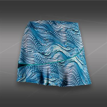 Tail Blue Court Printed Flounce Skirt-Seascape