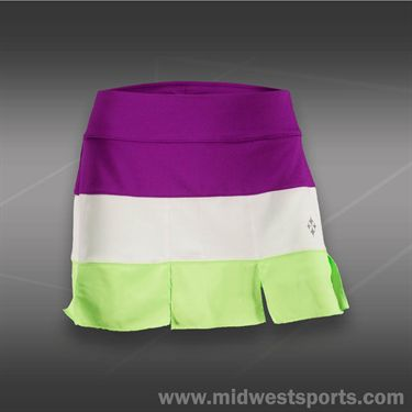 JoFit Islands Panel Skirt-Neon Green
