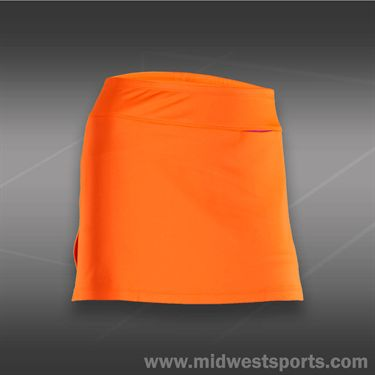 JoFit Lanai Jacquard Tennis Skirt-Orange Crush