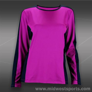 Tail Grand Victory Long Sleeve Scoop Neck -Fuchsia