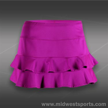 Tail Grand Victory Double Tiered Skirt -Fuchsia