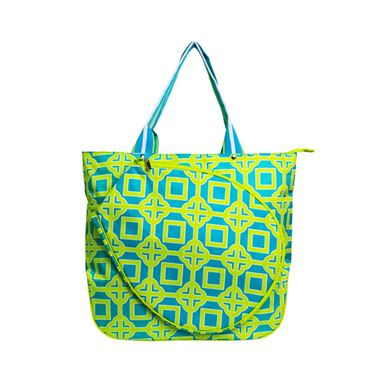 All For Color Lime Charmer Tennis Tote Bag