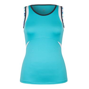 Tail Glistening Tide Stretch Woven Tank - Curacao