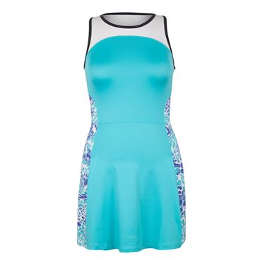 Tail Glistening Tides Racerback Dress - Curacao