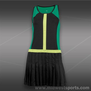 Tail Stadium Ace Dress-Emerald/Black/Limon Verde
