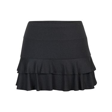 Tail Glistening Tide Layered Ruffled Skirt - Black Heather