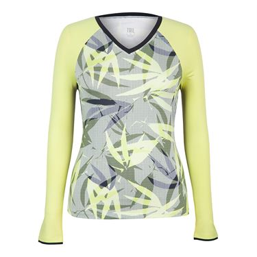 Tail Palm Springs Long Sleeve Top - Intrigue Chartreuse