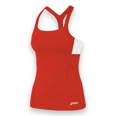 Asics Rally Tank - Red/White