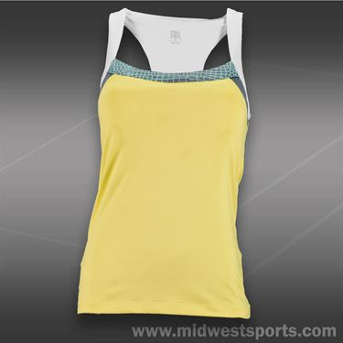Tail Ocean Front Racerback Tank-Sunny Yellow