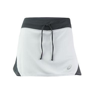 Asics Spin Slice Skirt - White/Steel Grey