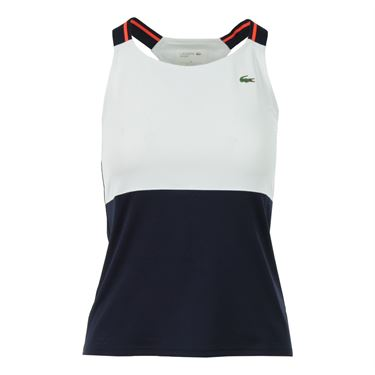 Lacoste Technical Tank - White/Navy