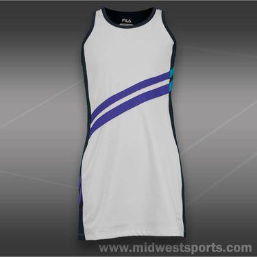 fila girls center court dress-white