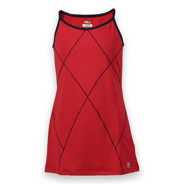 Fila Heritage Girls Dress - Crimson/Peacoat