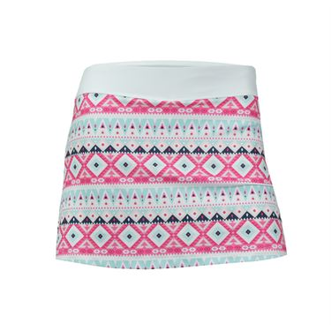 Fila Girls Moroccan Printed Skirt - Sugar Plum/White